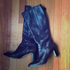 Plum Lauren Ralph Lauren Leather Boots 7.5